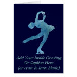 Cool Blue Figure Skater Greeting Card