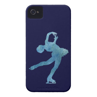 Cool Blue Figure Skater iPhone 4 Case