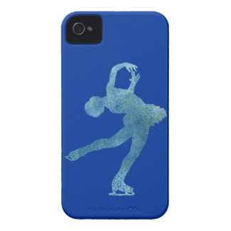 Cool Blue Figure Skater iPhone 4 Cover