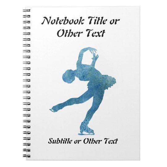 Cool Blue Figure Skater Notebook