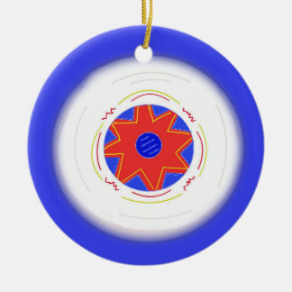 Cool Blue Frisbee Christmas Ornament