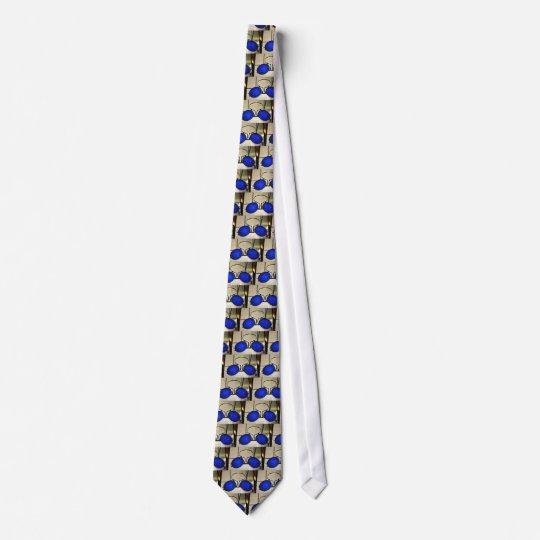 Cool Blue Glasses Tie