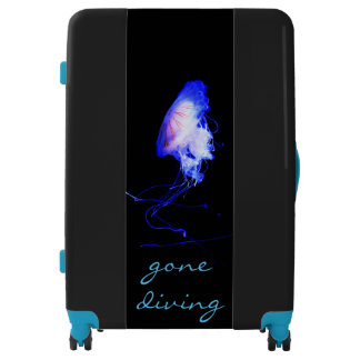 Cool Blue Gone Diving Snorkeling Sea Jellyfish Luggage