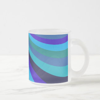 Cool Blue Gray Rainbow Slide Stripes Pattern Mugs