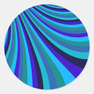Cool Blue Gray Rainbow Slide Stripes Pattern Stickers