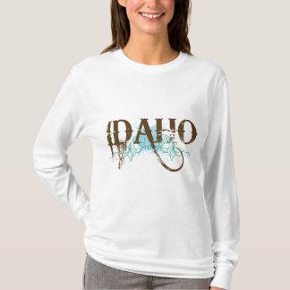 Cool Blue Grunge Idaho T-shirt
