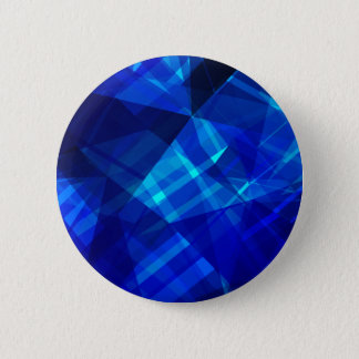 Cool Blue Ice Geometric Pattern 6 Cm Round Badge