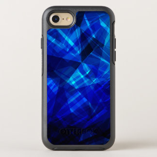 Cool Blue Ice Geometric Pattern OtterBox Symmetry iPhone 8/7 Case