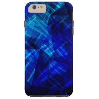 Cool Blue Ice Geometric Pattern Tough iPhone 6 Plus Case