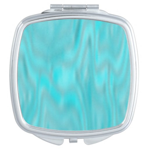 Cool Blue Marble Compact Mirror