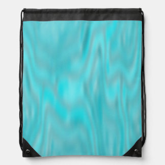 Cool Blue Marble Drawstring Backpack