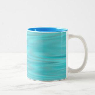 Cool Blue Marble Two-Tone Mug