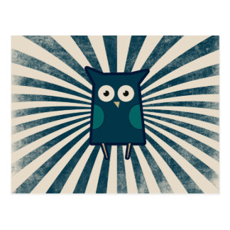 Cool Blue Owl Postcards
