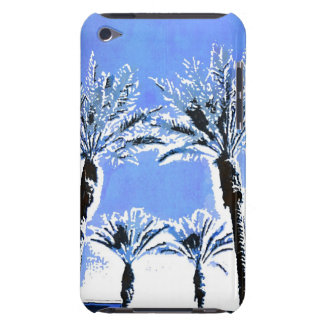 Cool Blue Palm Trees Paradise Beach Theme Decor iPod Touch Cover