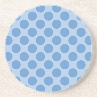 Cool Blue Polka Dots Pattern on Blue Cute Gifts Coaster