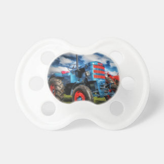 Cool Blue Red Antique Tractor Gifts for Farmers Dummy