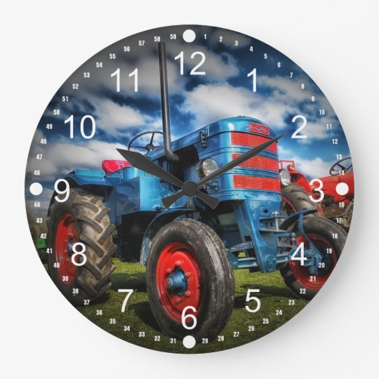 Cool Blue Red Antique Tractor Gifts for Farmers