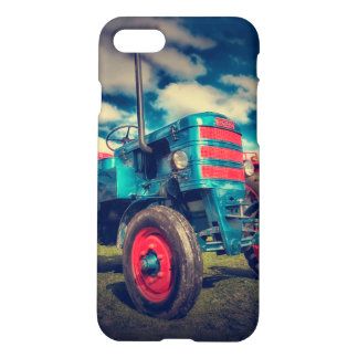 Cool Blue Red Vintage Tractor iPhone 7 Case