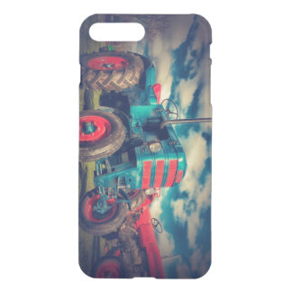 Cool Blue Red Vintage Tractor iPhone 7 Plus Case