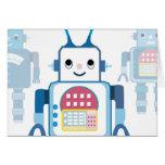 Cool Blue Robot Gifts Novelties Card