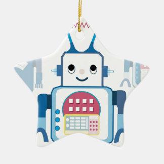 Cool Blue Robot Gifts Novelties Christmas Ornament