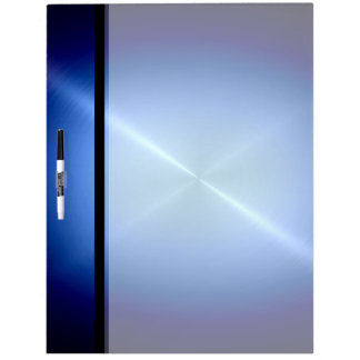 Cool Blue Shiny Stainless Steel Metal Dry Erase Board
