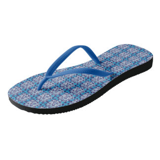 Cool blue skulls and lions for the summer time flip flops