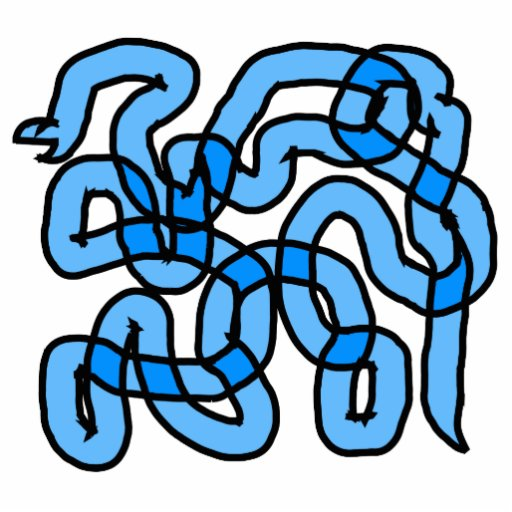 Cool Blue Snake Design. Photo Cutouts