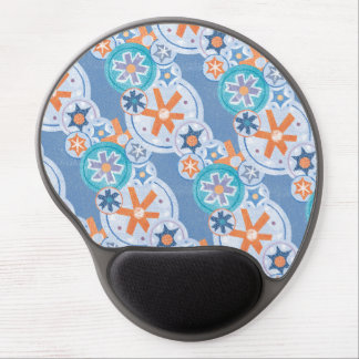 Cool Blue Snowflakes Winter Christmas Holiday Snow Gel Mousepad