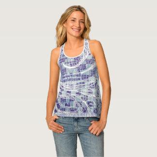 Cool Blue Swirl Tank Top