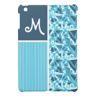 Cool Blue Triangle Pattern Case For The iPad Mini