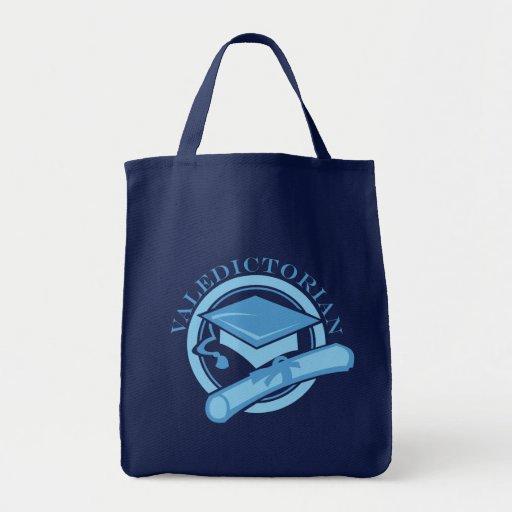 Cool Blue Valedictorian Graduation Gift Canvas Bag