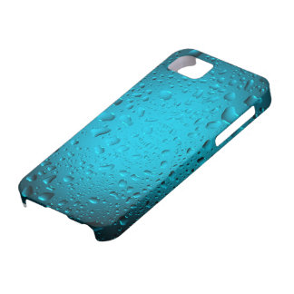 Cool blue water drops iPhone 5 case