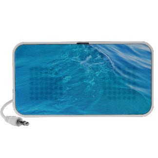 Cool blue water wave mp3 speakers