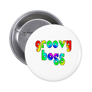 Cool Bosses Office Christmas Parties : Groovy Boss 6 Cm Round Badge