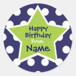 Cool Boy Star Customisable Birthday Sticker