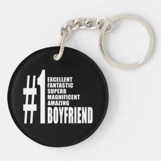 Cool Boyfriends : Number One Boyfriend Double-Sided Round Acrylic Keychain