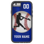 Cool Boys Blue PERSONALIZED Baseball Phone Cases Tough Xtreme iPhone 6 Case