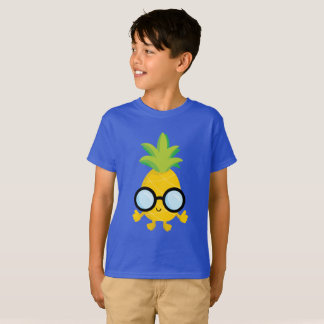 Cool boys pineapple fruit fun t-shirt