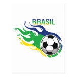 Cool Brasil Futebol Postcards