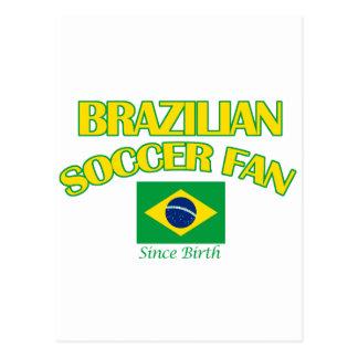 cool BRAZILIAN SOCCER  fan DESIGNS Postcard