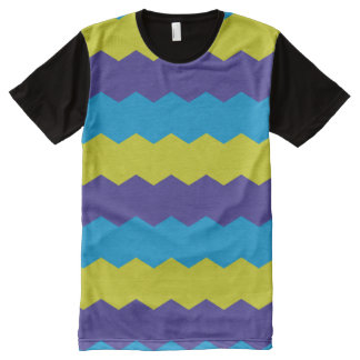 Cool Bright Abstract Waves All-Over Print T-Shirt