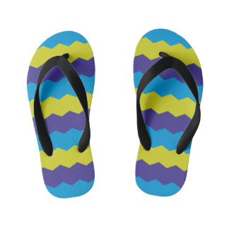 Cool Bright Abstract Waves Flip Flops
