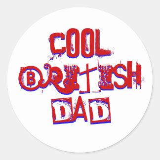 Cool British Dad Classic Round Sticker