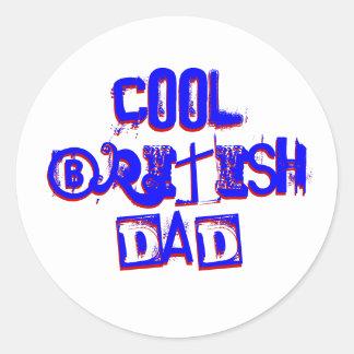 Cool British Dad II Classic Round Sticker
