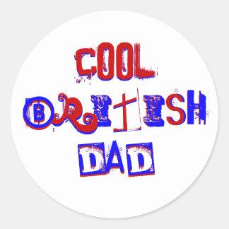 Cool British Dad IV Classic Round Sticker