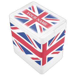 cool british london union jack flag igloo cooler
