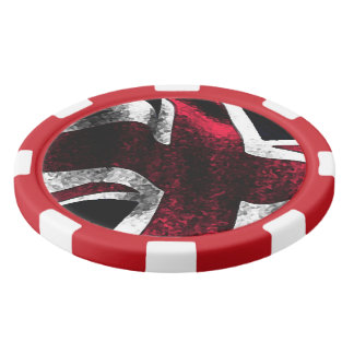 Cool British Union Jack Set Of Poker Chips