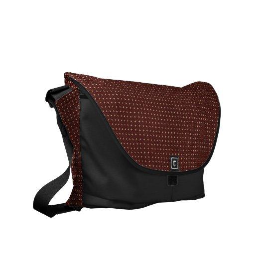 Cool  Browen Black Messenger Bag Outside Print
