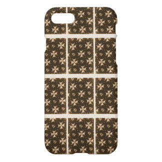 cool brown and grey abstract pattern iPhone 7 case